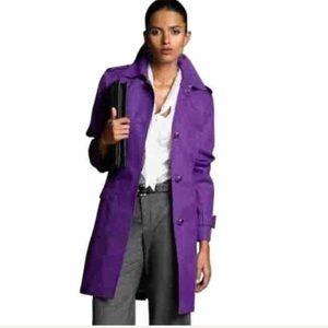 🍌 SZ M Purple Banana Republic Trench Coat